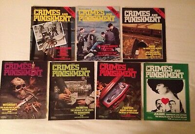 7 x Crimes and Punishment Magazines from 1973 Parts 1,2,3,5,6,7&8