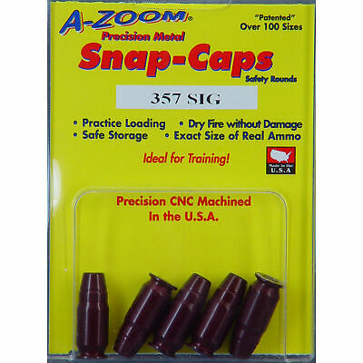 NEW! Pachmayr 357 Sig Azoom Snap Caps 5 Rounds - 15159