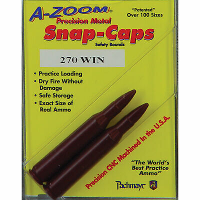 NEW! A-Zoom 270 Win Precision Snap Caps (2 Pack) 12224
