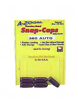 NEW! Pistol Metal Snap Caps 380Auto 5pk 15113