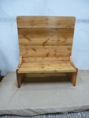 High back pine pew/ monks bench/box settle