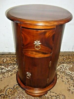Victorian Style Round Cylindrical Bedside Pot Cupboard