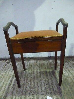 vintage antique piano stool with storage