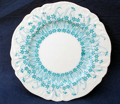 Shelley Late Foley 'grass Print' Cakeplate, Turquoise Colourway