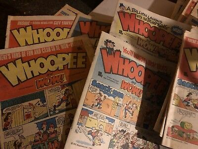 VINTAGE WHOOPEE & WOW COMICS from the 70s & 80s collectable