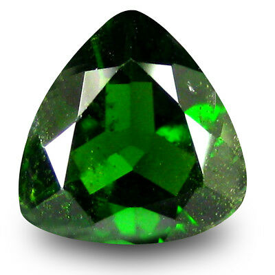 2.13 ct Pleasant Trillion Shape (9 x 9 mm) Green Chrome Diopside Loose Gemstone