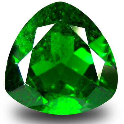 2.50 ct Incredible Trillion Shape (9 x 9mm) Green Chrome Diopside Loose Gemstone