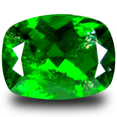 1.49 ct Impressive Cushion Shape (8 x 6 mm) Green Chrome Diopside Loose Gemstone