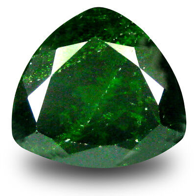 2.59 ct Dazzling Trillion Shape (9 x 9 mm) Green Chrome Diopside Loose Gemstone