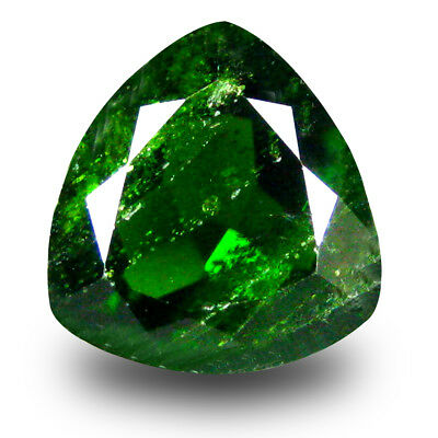 2.73 ct Remarkable Trillion Shape (9 x 9mm) Green Chrome Diopside Loose Gemstone