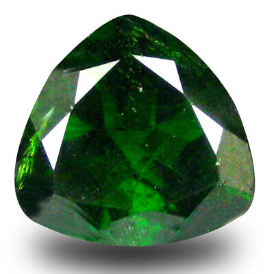 2.81 ct Outstanding Trillion (9 x 9 mm) Green Chrome Diopside Loose Gemstone