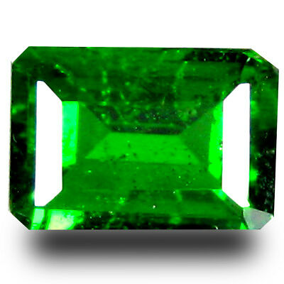 1.04 ct Shimmering Cushion Shape (7 x 5 mm) Green Chrome Diopside Loose Gemstone