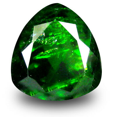 2.78 ct Tremendous Trillion Shape (9 x 9mm) Green Chrome Diopside Loose Gemstone
