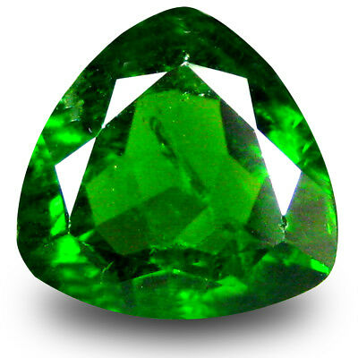 2.54 ct Remarkable Trillion Shape (9 x 9mm) Green Chrome Diopside Loose Gemstone