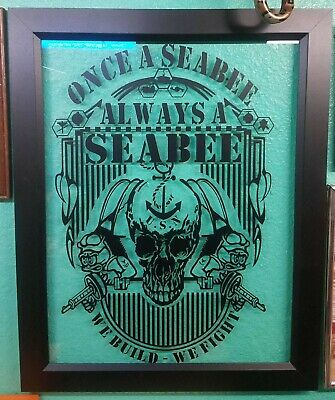 """US Seabees Veterans of America Once a Seabee Always a Seabee Decal 9""""x14"""""""