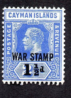 Cayman Islands 1917 King George V MH #MR4 Overprint War See Scan of Reverse