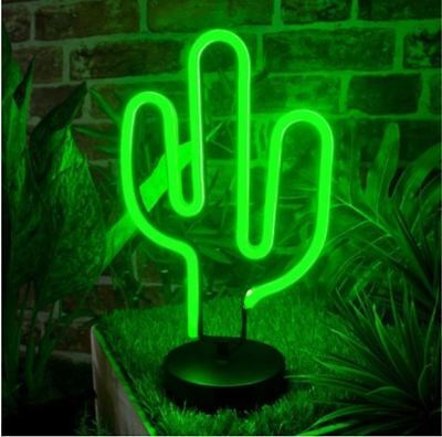 Global Gizmos 30cm Retro Cactus LED Neon Light
