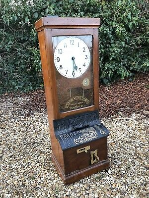 Early 20th C Clocking In Clock