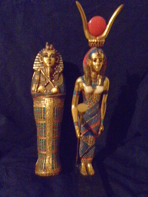 "Artisans Guild International A.g.i.  89 Egyptian Goddess Isis 12.5"" Mint $299Usd"