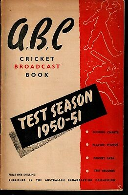 ABC Cricket Booklet 195051  Ashes