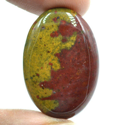 Cts. 33.65 Natural Gorgeous Red Spot Bloodstone Cabochon Oval Loose Gemstone