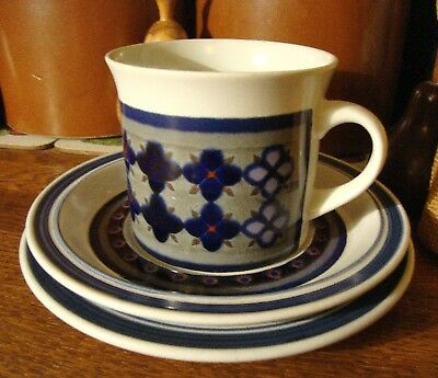 Vintage 1973 Royal Doulton Tangier Trio - Teacup Saucer And Plate - Lambeth