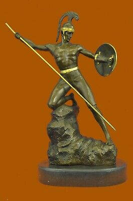 Collectible Male Figurine Bronze Decor Ancient Roman-Greek Mythology Hot Cast