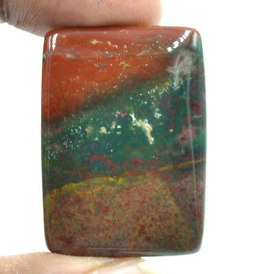 Cts. 51.15 Natural Flag Color Bloodstone Cabochon Octagon Exclusive Gemstone