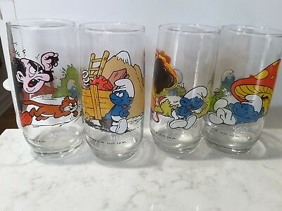 Smurf Glasses 1982 Peyo