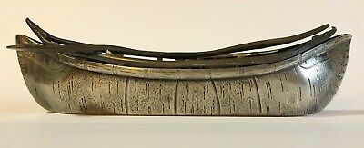 Rare Antique Victorian James W. Tufts Silver Plate Canoe