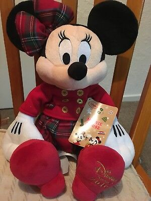 Minnie Mouse Plush Christmas Soft Toy Disney Store 2016