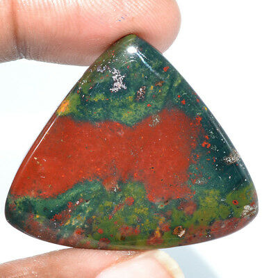 Cts. 57.30 Natural Fine Quality Bloodstone Cabochon Heart Cab Exclusive Gemstone