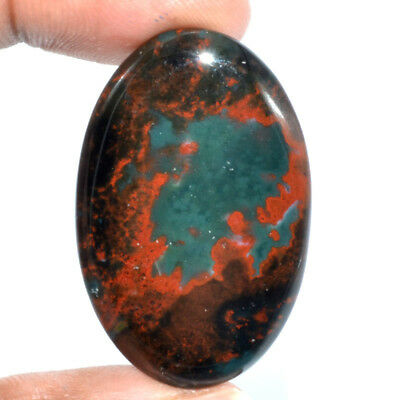 Cts. 47.05 Natural Marvellous Bloodstone Cabochon Oval Loose Gemstone