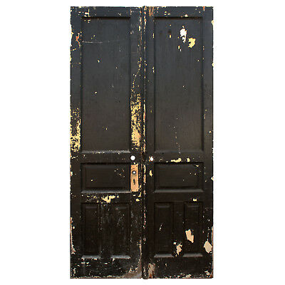 """Salvaged Pair of Antique 46"""" Double Doors, NED794"""