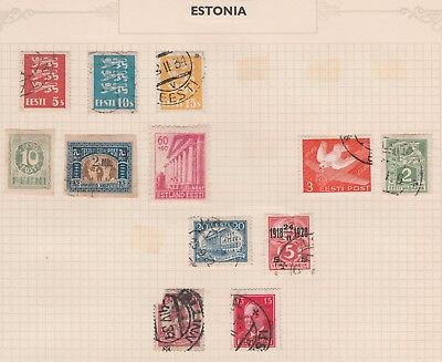 ESTONIA Tiger, Bird, Structures on Old Pages, USED, as per scan #