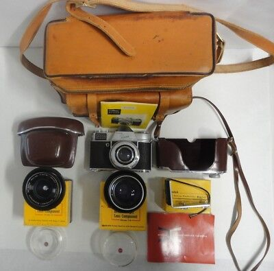 Kodak Retina Reflex Camera With Accessories