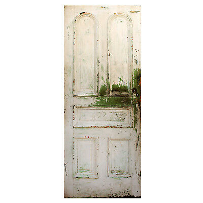 """Reclaimed 32"""" Door with Arched Panels, Late 19th Century, NED790"""