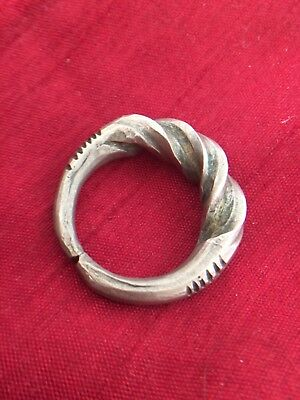Large Heavy Viking Silver Twisted Ring Circa 9th to 11th Century AD