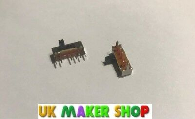 Miniature SPDT Slide Switch 3 1P3T Position PCB Mount Packs of 2-20