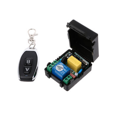 433MHz AC220V 10A 1CH RF Wireless Remote Control Switch Receiver+Transmitter Kit