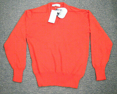 Vintage c1990 NOS Mens Australian made Wool Jumper - Fitwear size 18  Red