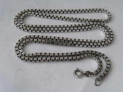 Long Solid Sterling Silver Box Link Chain/ L 73 cm/ 34 g