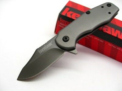 KERSHAW Titanium EMBER Assisted Plain Folding POCKET Folder Knife! 3560