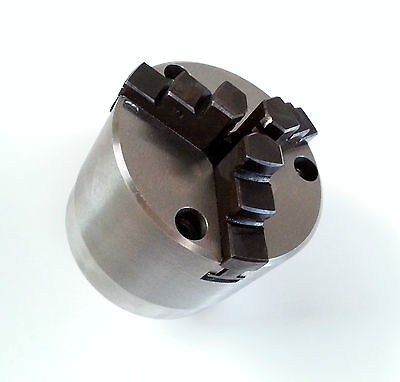 80mm 3 Jaw Self-Centring Rotary Table Lathe Chuck With Backplate Front Mounting