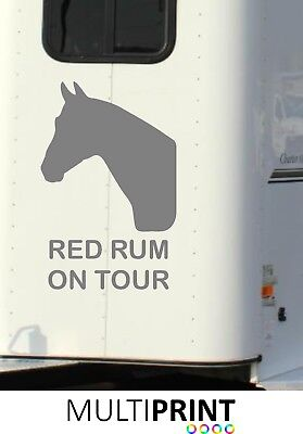 Personalised Horse Box Graphics Stickers Decals Self Adhesive Vinyl Decals Hor4