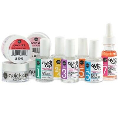 ASP Quick Dip Acrylic Powder Nail Colour System Starter Kit - RRP: £70