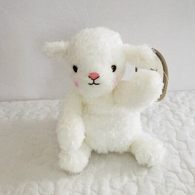 Hallmark Plush Lamb For Snuggles White Sheep Pink Cheeks Curly Fur Stuffed Toy