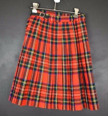 Vintage pure wool kilt 10 years old Royal Stewart* tartan