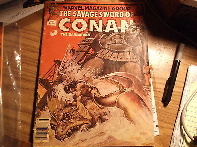 SAVAGE SWORD of CONAN the Barbarian Vol. 1 #80 Marvel Magazine Group Sept. 1982