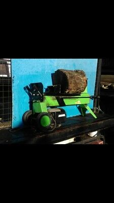 ELECTRIC HYDRAULIC 5 TON FAST LOG SPLITTER WOOD TIMBER CUTTER . Used